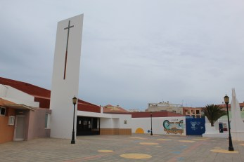 Churxh and school in Plaza de la Iglesia