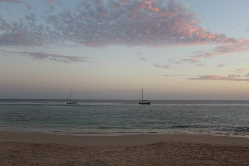 Morro Jable Beach at sunset