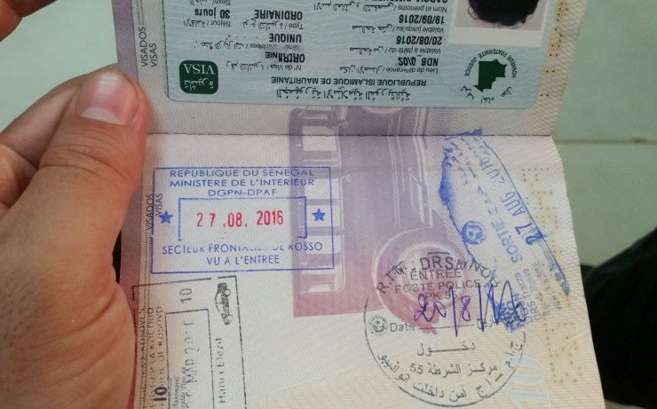 Passport with stamps and visas