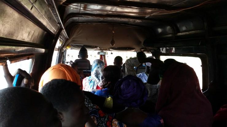 a van bus in Gambia