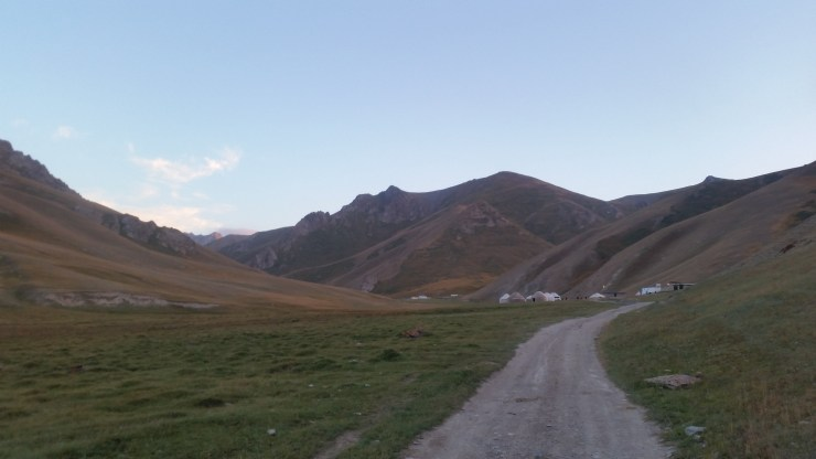 a path for nomads in kyrgyzstan