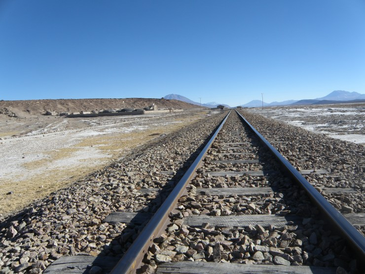 Train tracks in Bolivia