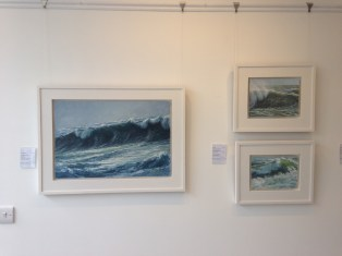 'Constantine Bay', 'Spindrift' and 'Autumn Wave II' by Nigel Chamberlain