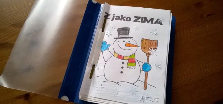Zimní smyslová knížka