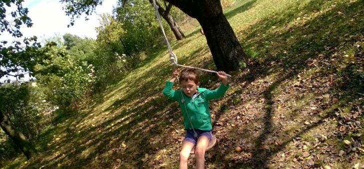 U nás na zahradě… lanovka