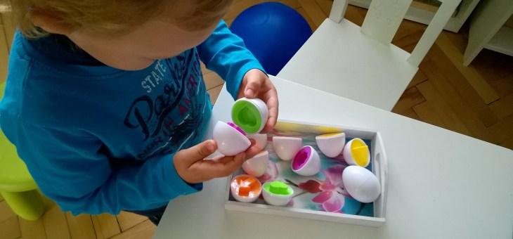 Vajíčka – barvy/tvary