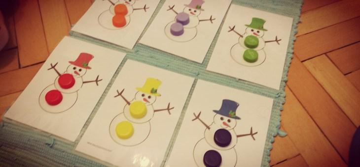 Sněhulák-barvičky