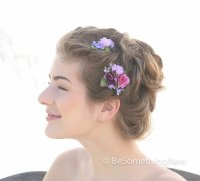 Set of Flower Bobbie Pins, Bridesmaids Flower Hair