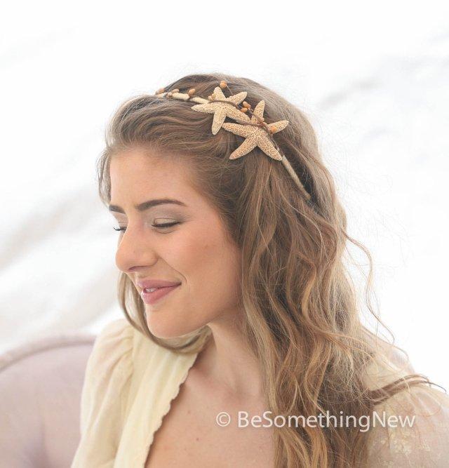 starfish headband beach wedding hair accessory