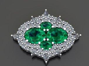Emerald brooch 3