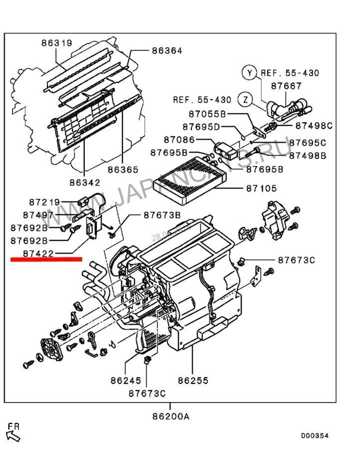 Терморезистор печки 7810A063 Mitsubishi L200 PAJERO SPORT