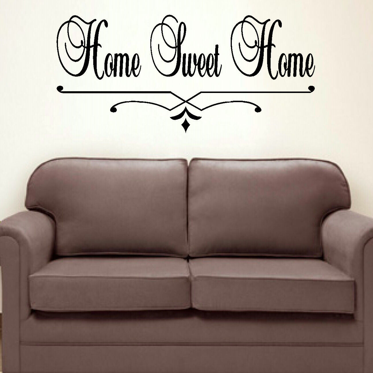 LARGE BEDROOM QUOTE HOME SWEET HOME WALL ART STICKER