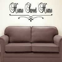 LARGE BEDROOM QUOTE HOME SWEET HOME WALL ART STICKER ...