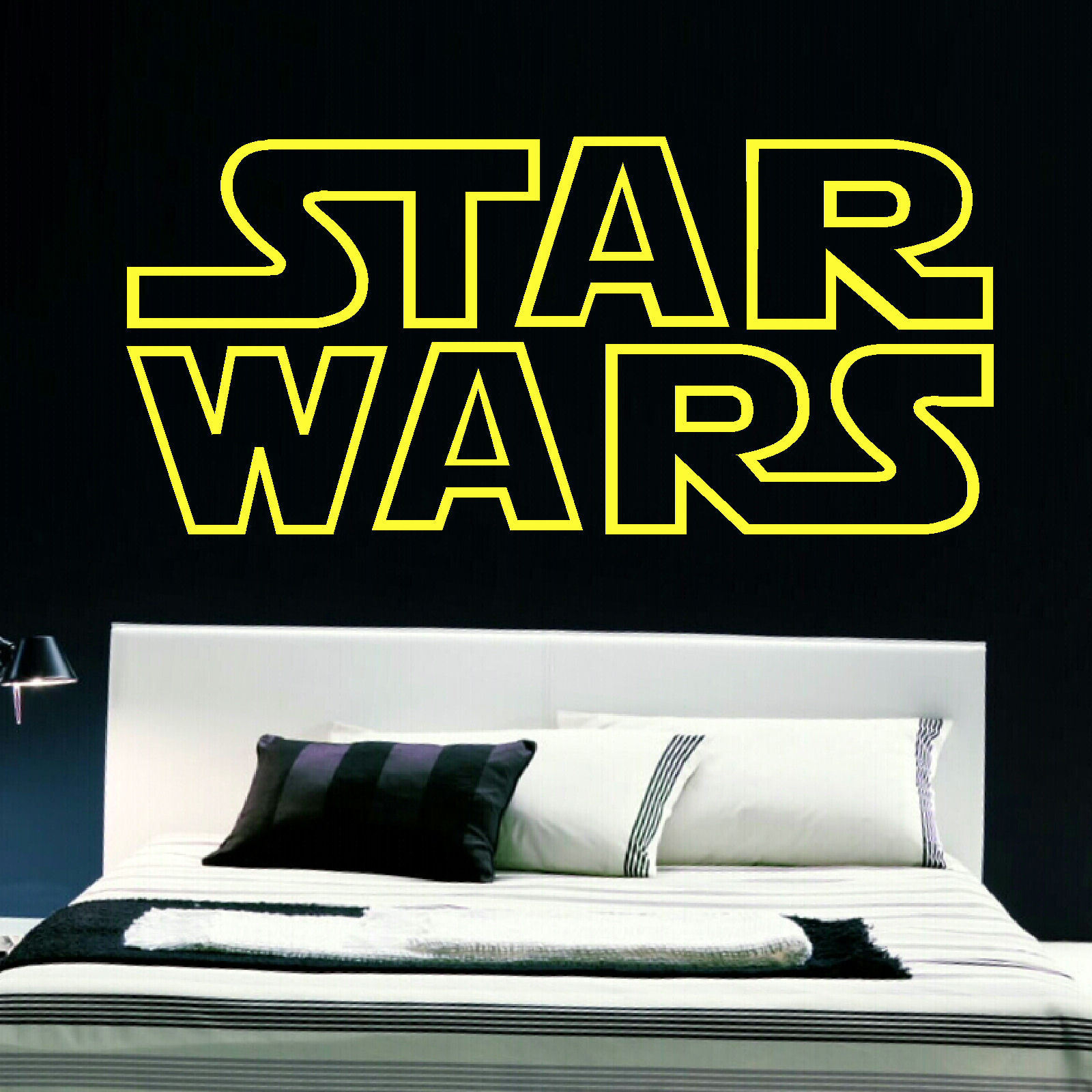 STAR WARS BEDROOM LOGO WALL STICKER IN QUALITY CUT MATT