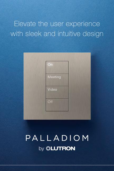 Lutron palladium keypad
