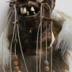 Black Skull Chair Modern Dining Evil Shrunken Head | Bespokebug