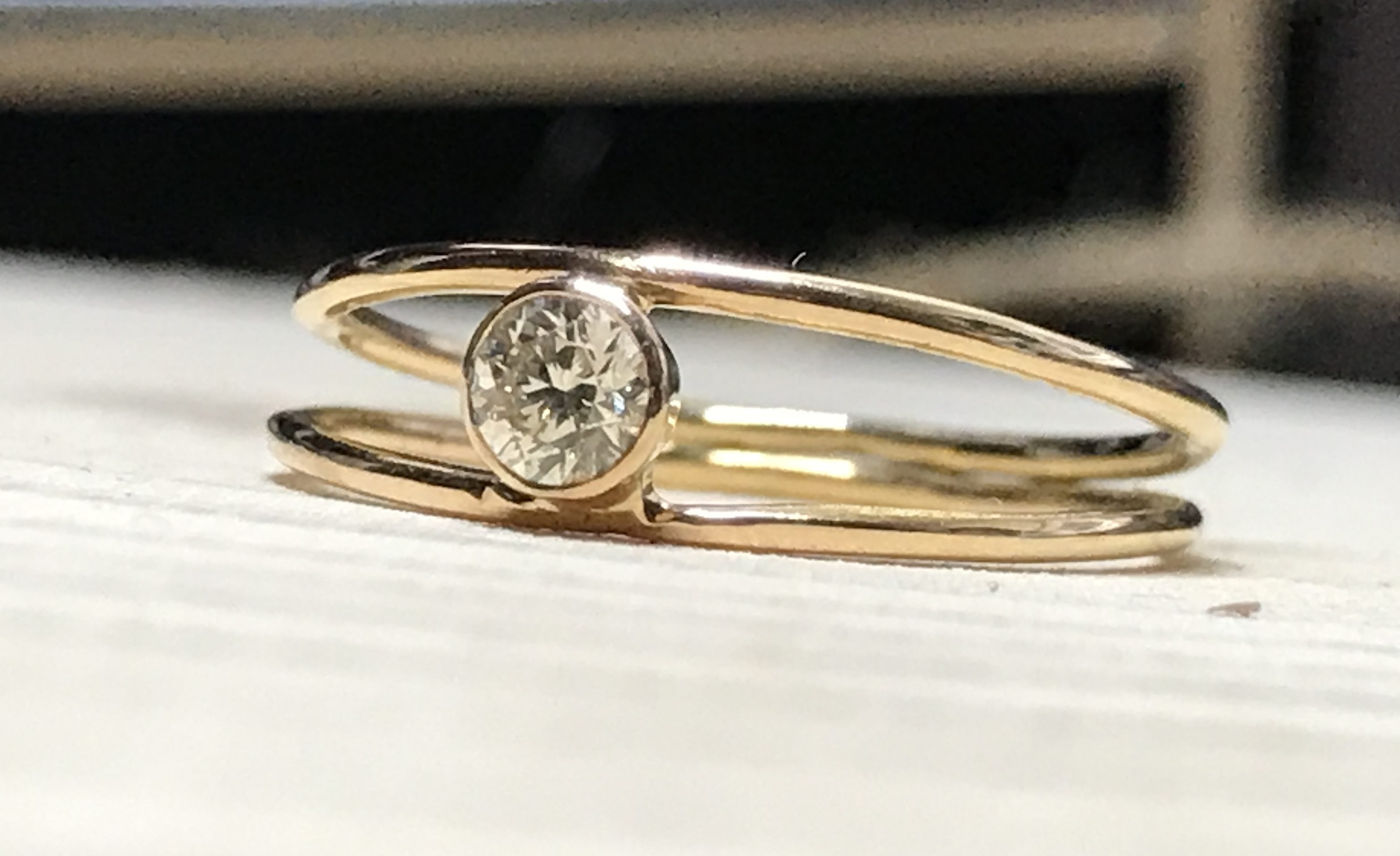 18k Rose Gold And Diamond Simple Ring Bespoke By Kim