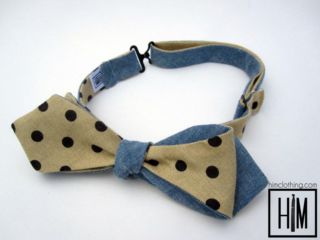 HIM Clothing - Taches Bleus Bow Tie