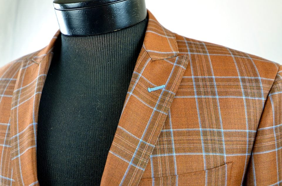 a sophisticated fall windowpane fabric