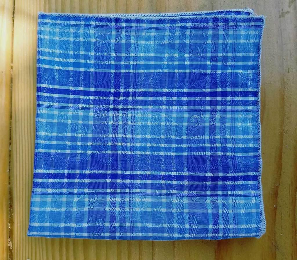 blue summer pocket square