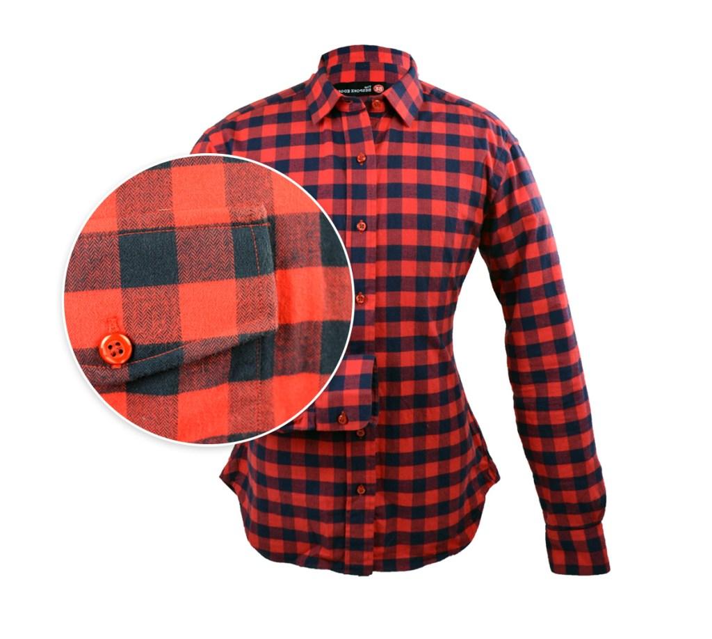 a buffalo check red shirt
