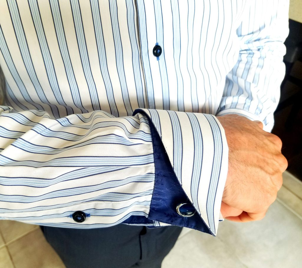 Colorado wedding men's clothing example of a French shirt cuff