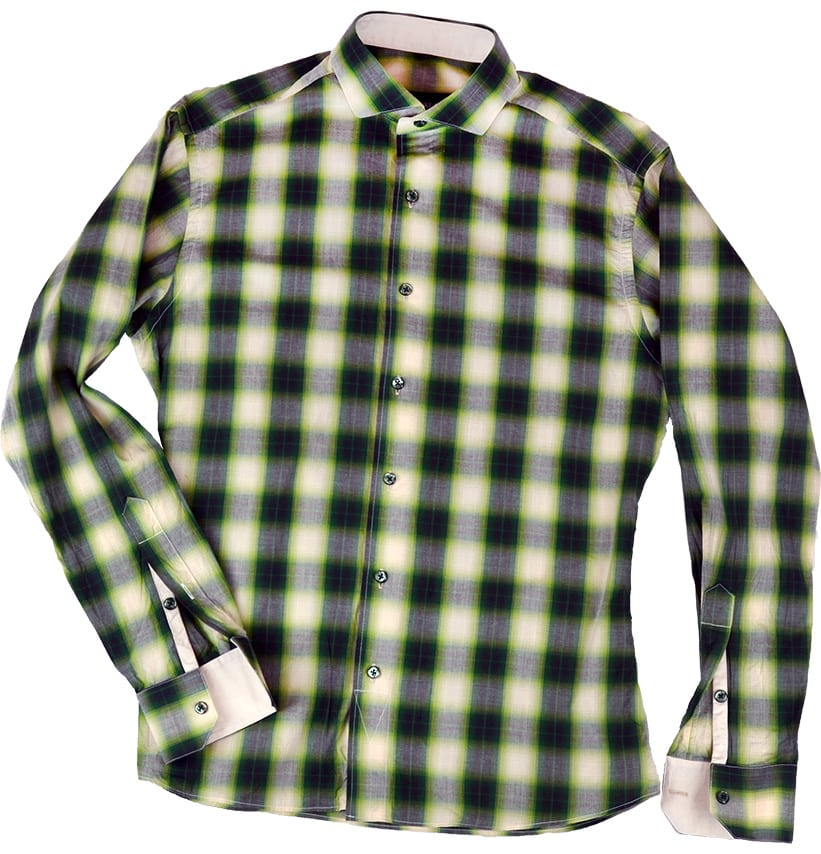 Green plaid dress shirt