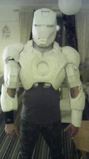 Front of Iron Man custom build. Copyright of Bepsoke Fantasy Costumes, 2016.