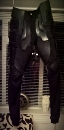 Batman legs now complete. Just need the boots to complete the look. Copyright of Bespoke Fantasy Costumes 2016.