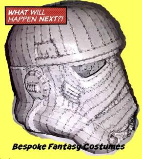 Storm Trooper helmet build, made by Mr.Bespoke, at Bespoke Fantasy Costumes. Image copyright of Bespoke Fantasy Costumes, 2016.