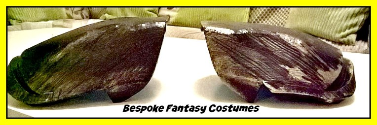 Shoulder detail for the custom-made Batman TDK battle worn design by Mr.Bespoke. Design and image copyright of Bespoke Fantasy Costumes, 2016.
