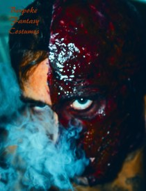 'Half intent two' Make-up and special effects by Mr.Bespoke of Bespoke Fantasy Costumes, 2016. Photography by Rose-Sky Journey Pieces.