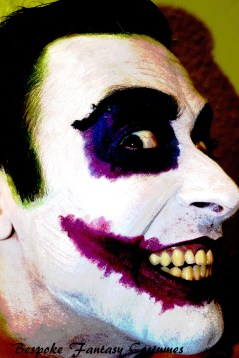 'All it takes is a little push.' The Joker make-up look. Make-up by Bespoke Fantasy Costumes. Photography by Rose-Sky Journey Pieces. Copyright 2016.