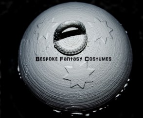 3D printed Christmas bauble. Designed and printed by Bespoke Fantasy Costumes. This is our own design that we have made, printed and constructed ourselves. Product by Bespoke Fantasy Costumes. Photography by Rose-Sky Journey Pieces. 2016