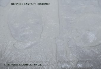 Lithopane example by Bespoke Fantasy Costumes. Programmed and printed by Bespoke Fantasy Costumes, 2017. Photography by Rose-Sky Journey Pieces, 2017.