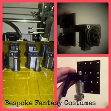 Collage of just some of the 3D printer upgrades that we have printed, or designed and printed. These are bearing blocks, extruder mount and 50mm fan attachment. Photo Bespoke Fantasy Costumes, 2017.