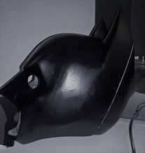 Batman 3D printed mask. Designed, printed, constructed and photographed by Bespoke Fantasy Costumes, 2017.