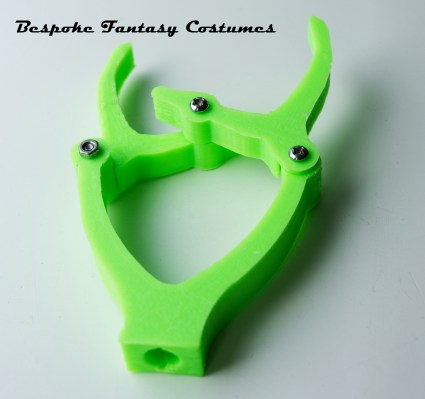 Fishing rod clamp. Printed by Bespoke Fantasy Costumes. Made to order, can be made in a variety of colours.
