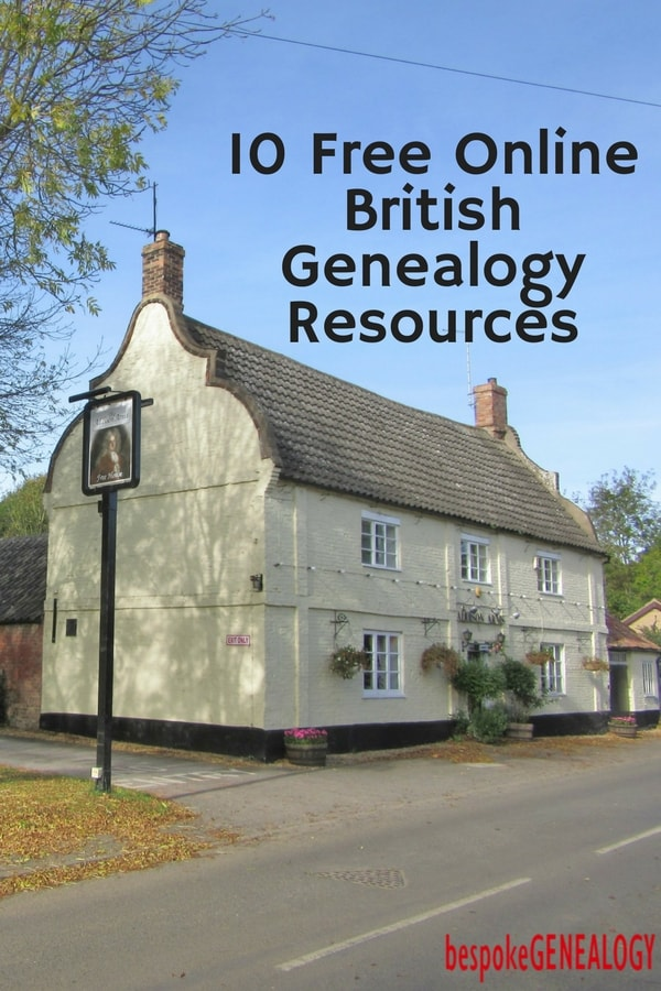 Top 10 Essential Free British Genealogy Sites - Bespoke Genealogy