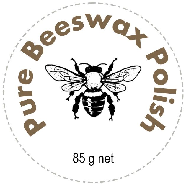 Beeswax polish label