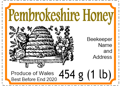Small honey label