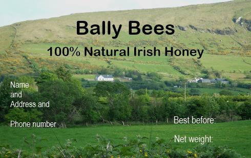 Irish honey label