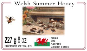 Welsh honey label