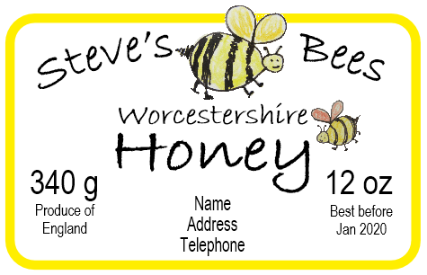 Bespoke honey label