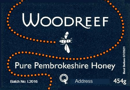 Woodreef honey label