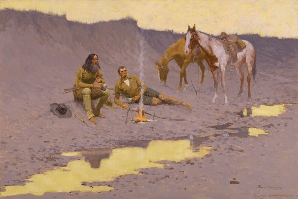 Frederic Remington the Cimarron On New Year