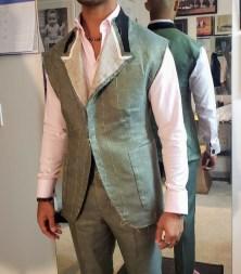 basted fitting - bespoke suit