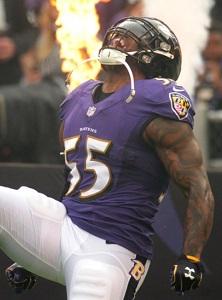 Ravens linebacker Terrell Suggs