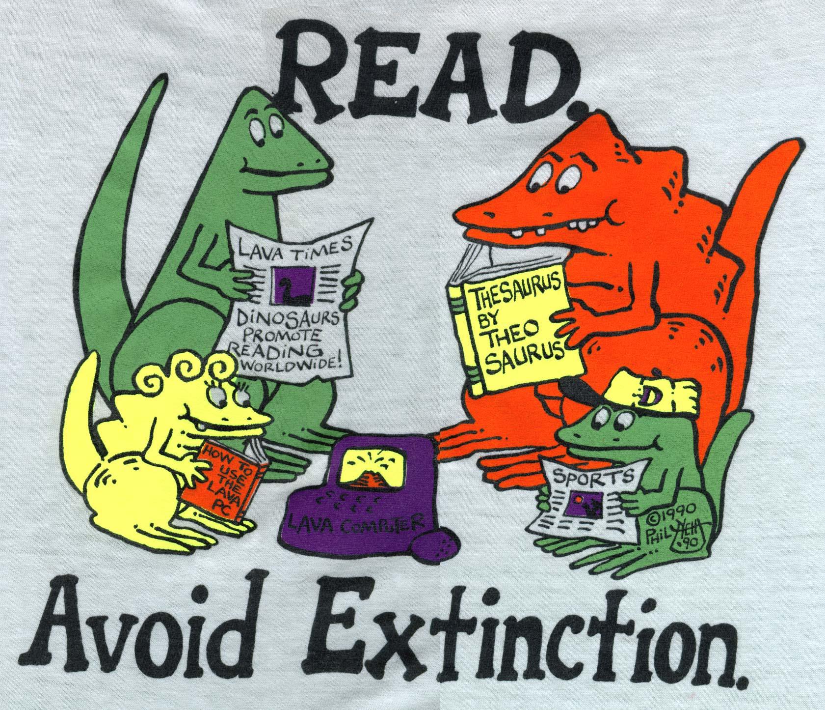 Read to avoid extinction