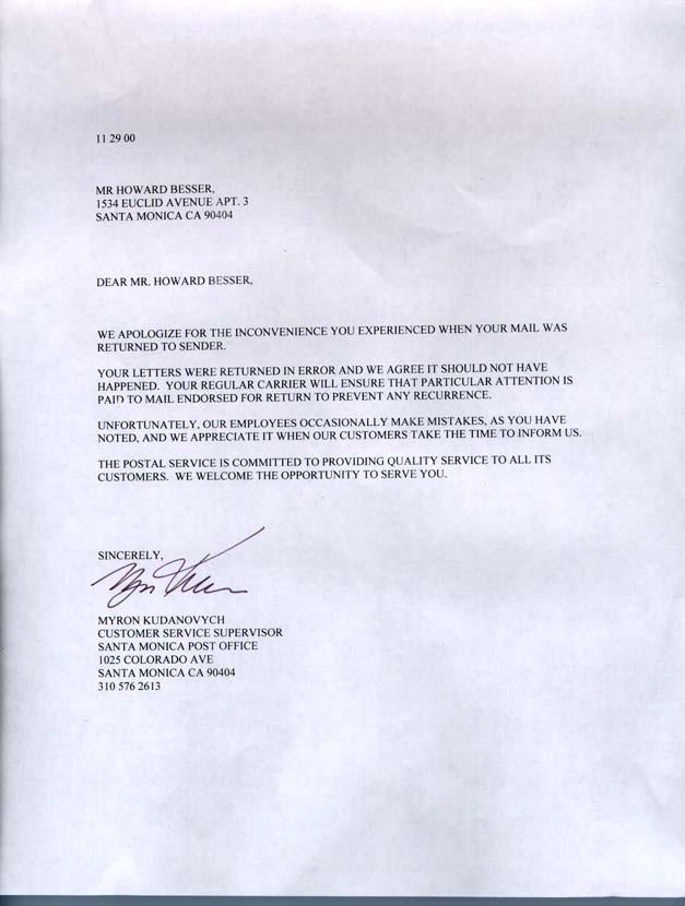 Cover Letter For Us Postal Service Job